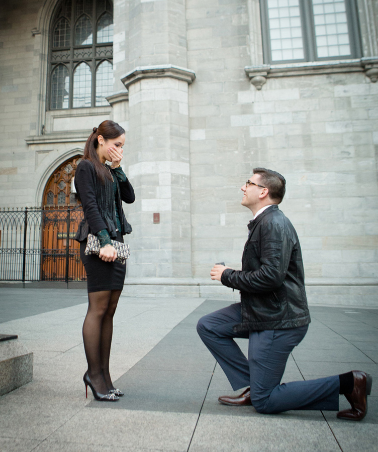 Surprise Wedding Proposal In Montreal