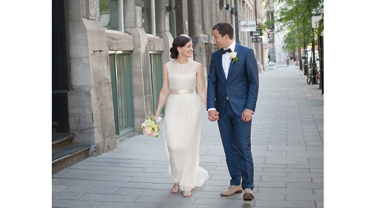 Old montreal wedding photo