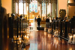 Wedding ceremony at St-George's church in Montreal