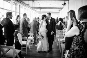 wedding ceremony at Scena in Montreal