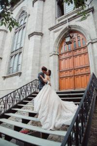 wedding at Notre Dame Basilica