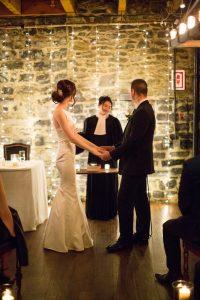 candle-lit wedding
