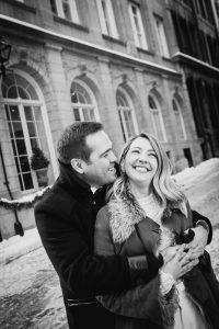 vieux port mariage en hiver