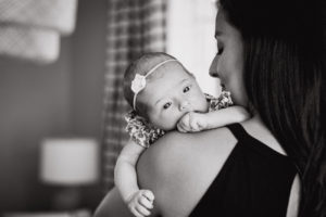Mother and newborn session