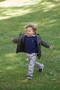 boy running candid