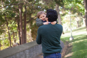 family photos at Murray Hill Park in Westmount