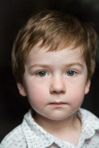little boy close-up portrait