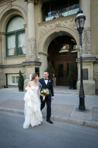 bride and groom in Montreal