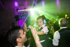 ring boy dancing with headphones