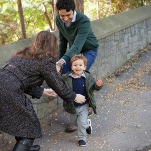 fall family photos in park