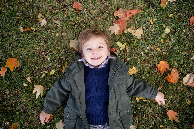 fall family photos in park