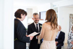 small wedding ceremony at home