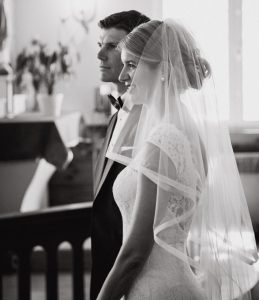 bridal veil in church