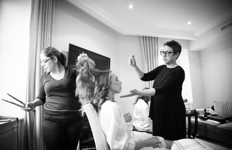ritz carlton wedding prep